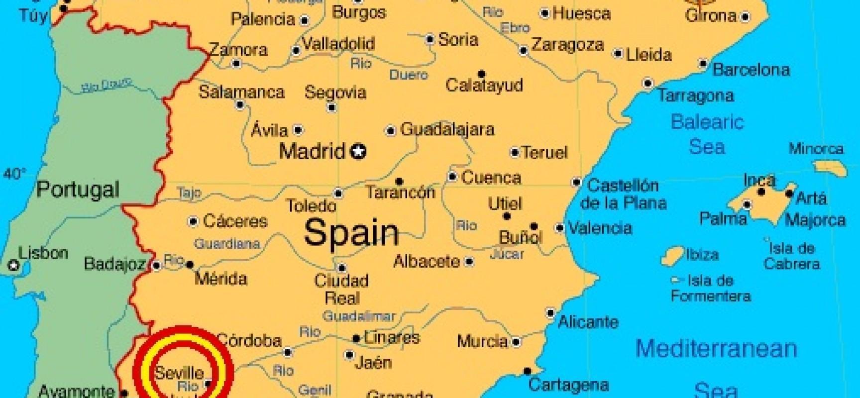 Mapa Da Espanha Mostrando Sevilha Mapa Da Espanha Mostrando