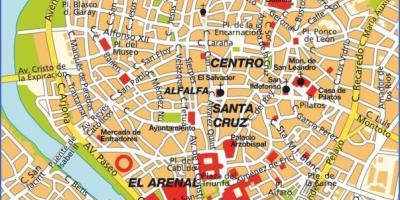 mapa de sevilha turistico Sevilha mapa turístico   Sevilha pontos turísticos mapa (Andaluzia  mapa de sevilha turistico