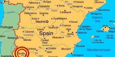 Sevilha Mapa Mapas De Sevilha Andaluzia Espanha